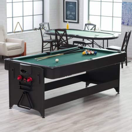 Fat Cat 7 ft. Black Pockey Table - Billiard & Air Hockey $479.99