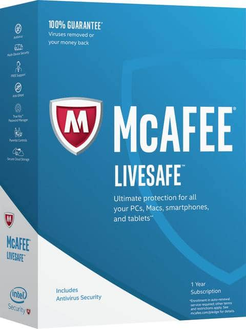 Office Depot Officemax Free McAfee LiveSafe Anti-Virus Installed to replace Kaspersky Total Security