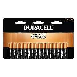 16-Pk Duracell Coppertop Batteries (AA/AAA) or 4-Pk (C/D) + 100% Back in Rewards $19 + Free Store Pickup 10/20-10/26 Office Depot and Officemax