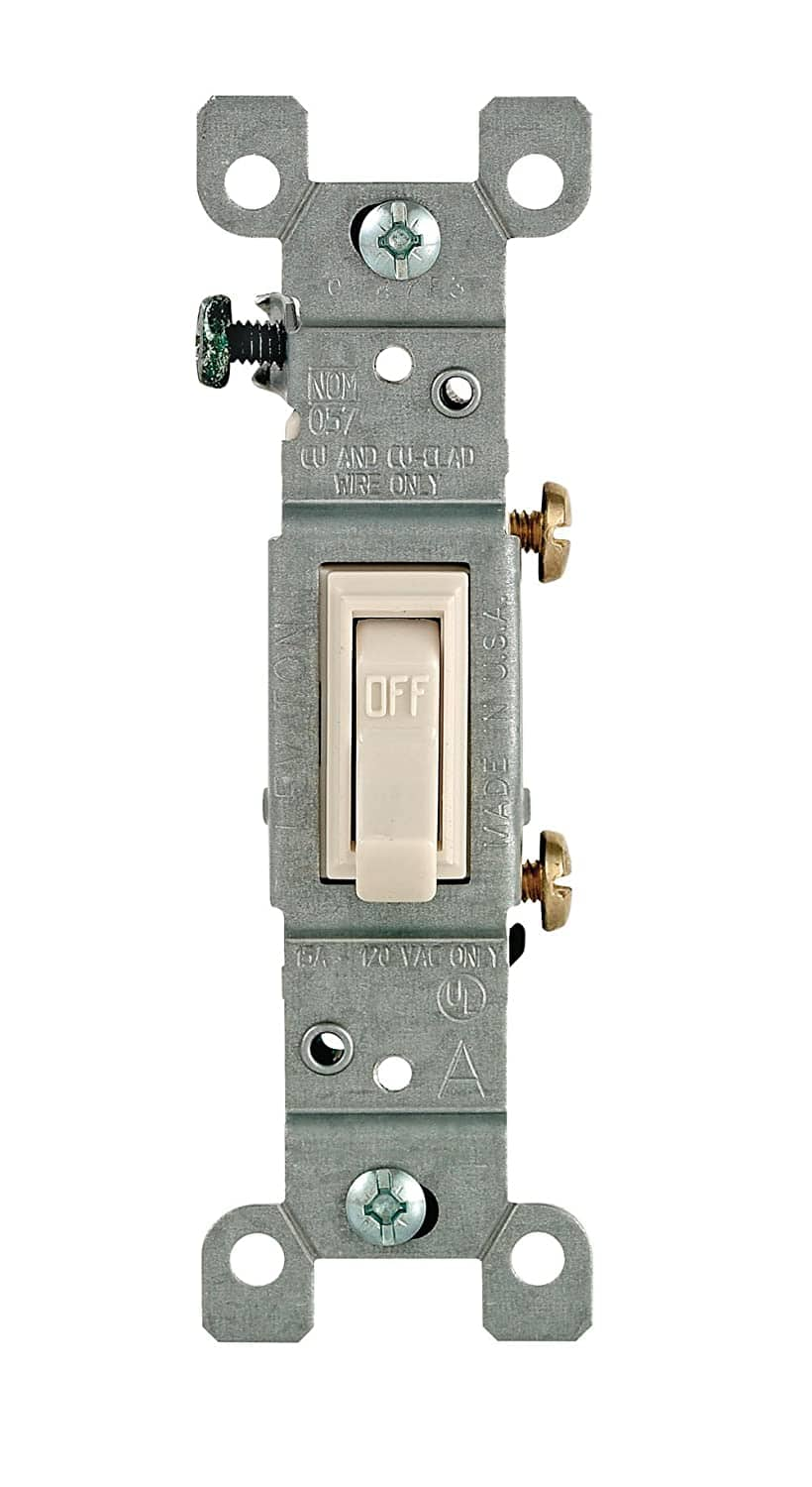 Leviton 1451-2T Framed Grounded Toggle Switch For 0.68$ with Free Prime shipping