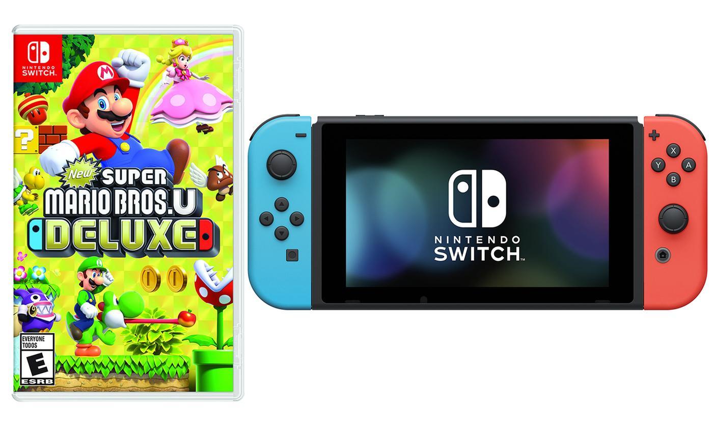 Nintendo Switch 32GB Console with Super Mario Bros. U Deluxe $296.99