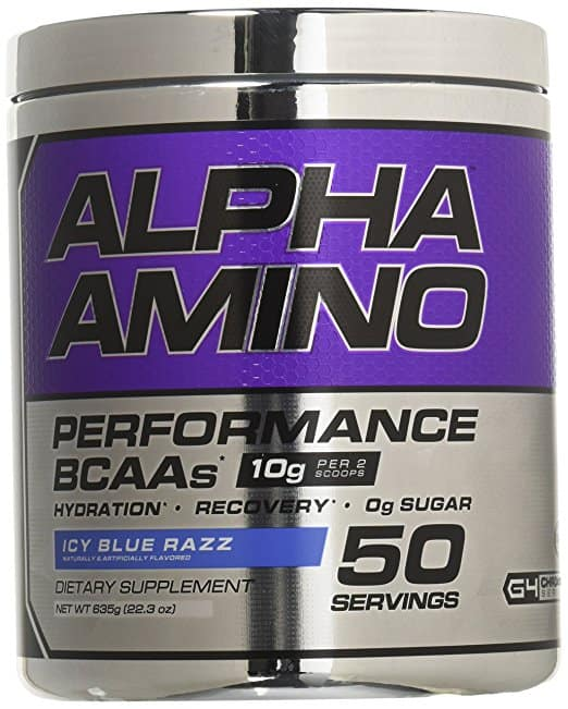 Cellucor Alpha Amino Performance BCAAs, Icy Blue Razz (50 Servings) for $19.99