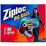 Ziploc 4-Count 10-Gallon Plastic Storage Bags $3.68 Lowes FS w/ $49+ order or B & M Free Pick YMMV
