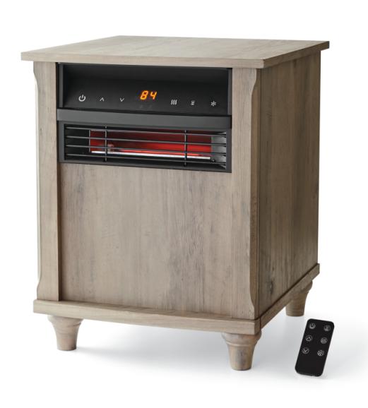 Mainstays 6 Element Infrared Quartz Heater, Wood Finish $52.87