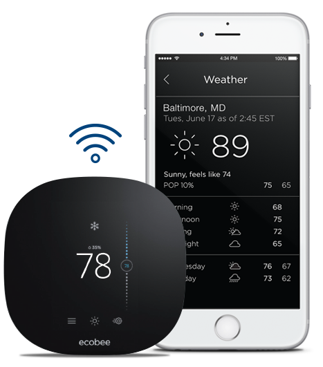 Free ecobee3 lite thermostat for BGE Peak Rewards customers.