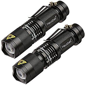 Hausbell 7W Ultra Bright Mini LED Flashlight Tactical Flashlight (2 Pack) $7