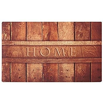 Rubber Indoor Doormat Rustic Entrance Welcome Mat - $6.99 and free shipping with Prime
