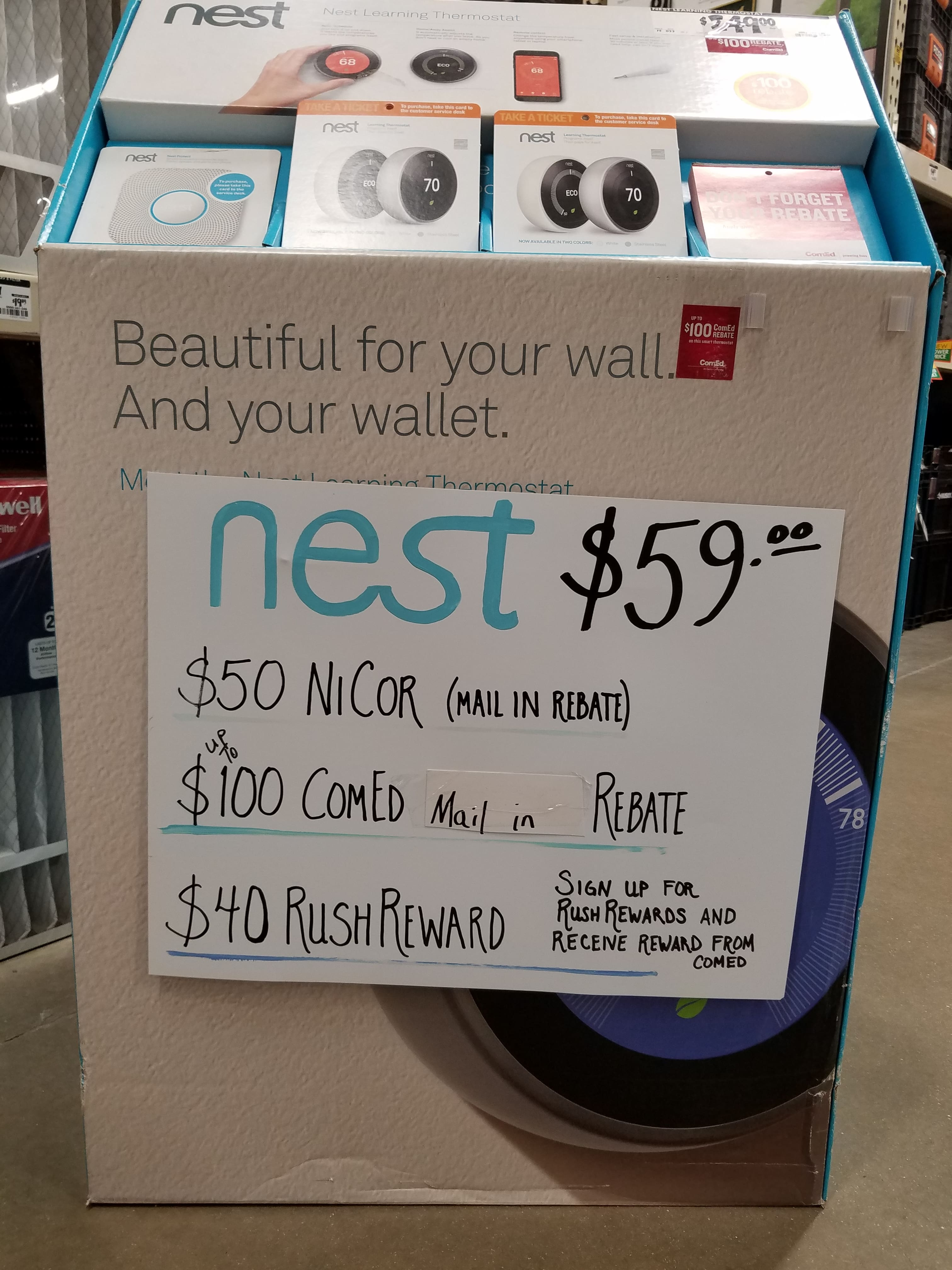 Nest Thermostat As Low as $59 After Rebates Ed and Nicor Gas