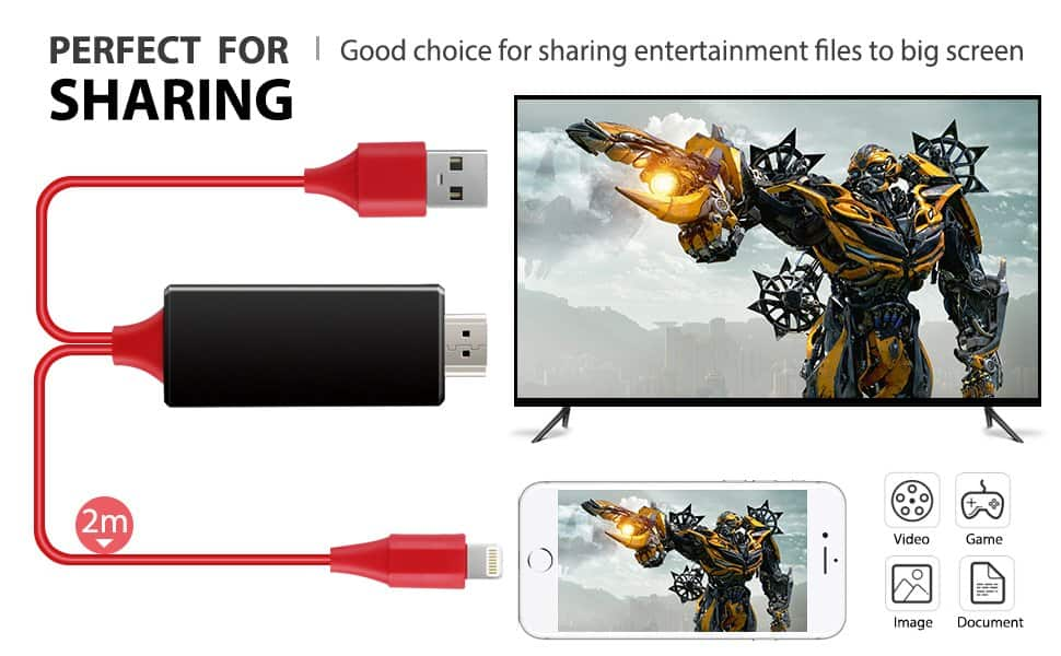 Lightning to HDMI 1080p Video AV Cable Connector $7.99