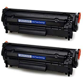 2-BLACK Compatible Toner Cartridge Replacemeant for 12A Q2612A Works with Mny HP LaserJet Models - $4.78 AC and Free Shipping with Prime/Lightnig Deal