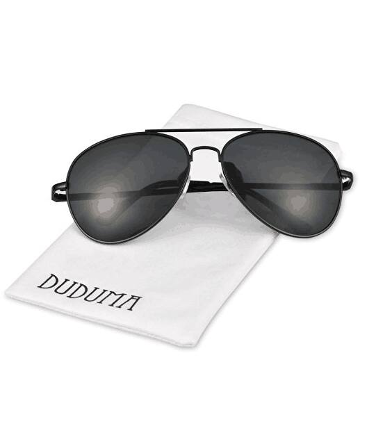 Duduma Aviator Mirrored Sunglasses with Uv400 54% Off - $5.97 AC and Free S/H with Prime