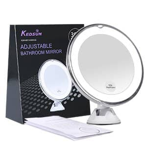 """6.8"""" 10x Magnifying LED Lighted Makeup Mirror $12.99 AC and Free S/H with Prime"""