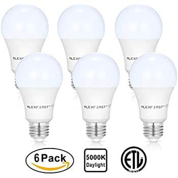 6-Pack A19 75 Watt Equivalent LED Light Bulbs Daylight 5000K $13.99 Free S/H with Prime