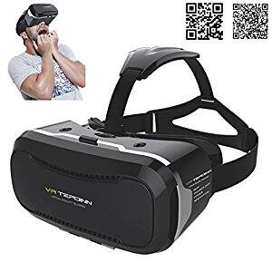 VR Glasses Headset with Adjustable Lens and Strap for 3.5 - 5.5-Inch Smart phones $7.38 and FS with Prime