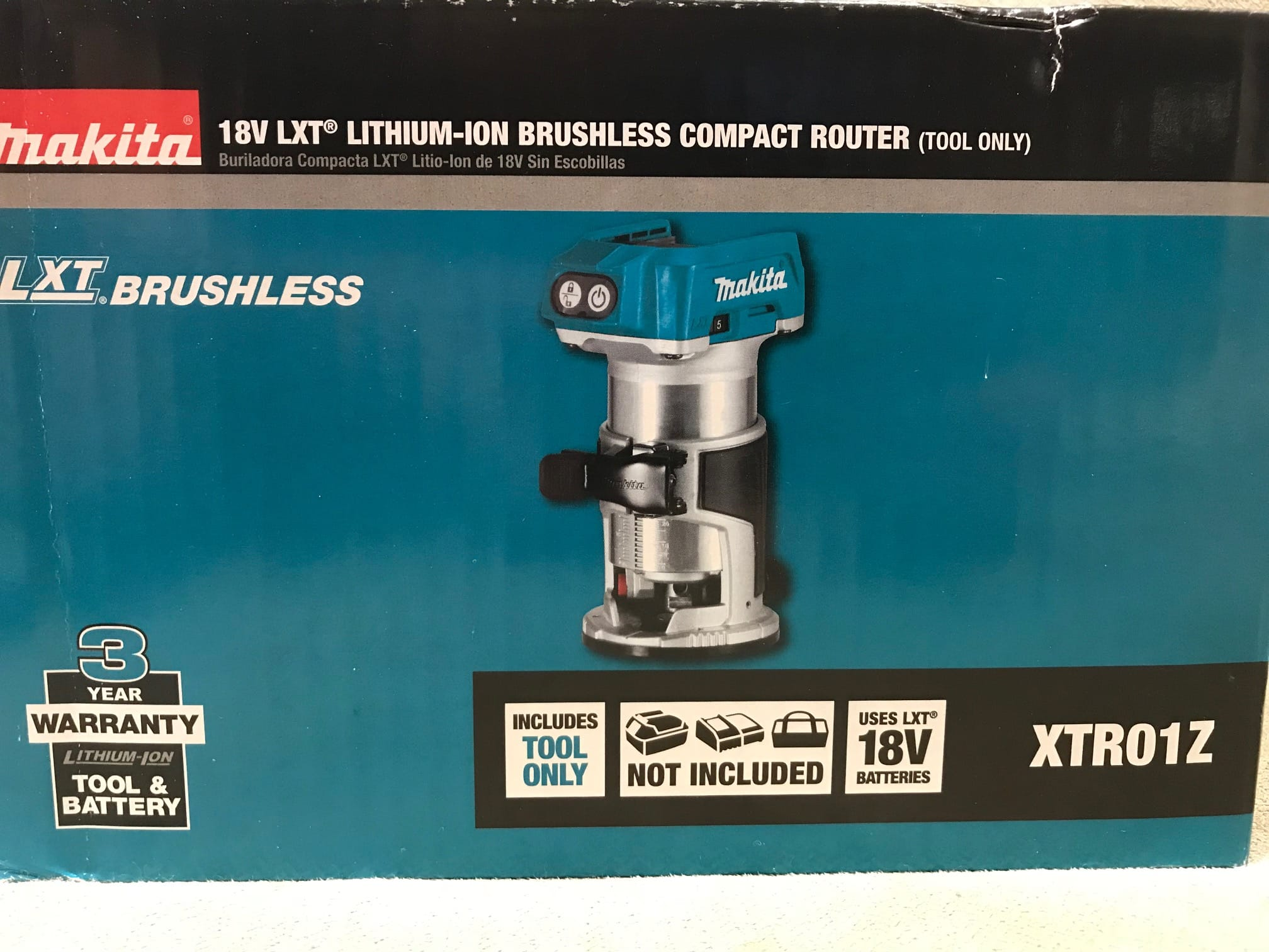 Makita XTR01Z Router (Wood) Bare Tool on clearance for $65.00 at Home Depot YMMV B&M