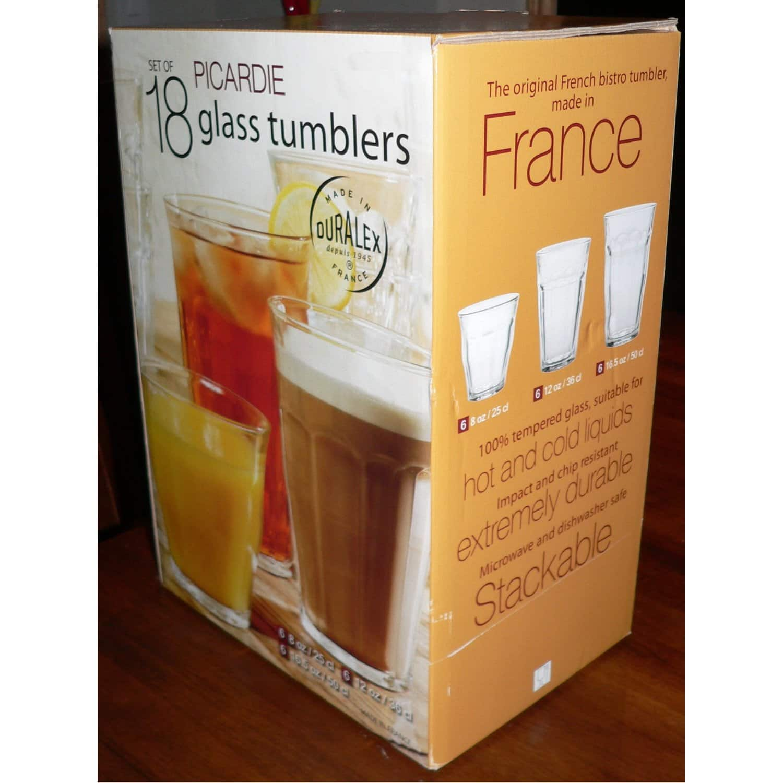 Duralex Picardie 18 Piece Tumbler Glass Set @ Costco $9.97 (YMMV by State)
