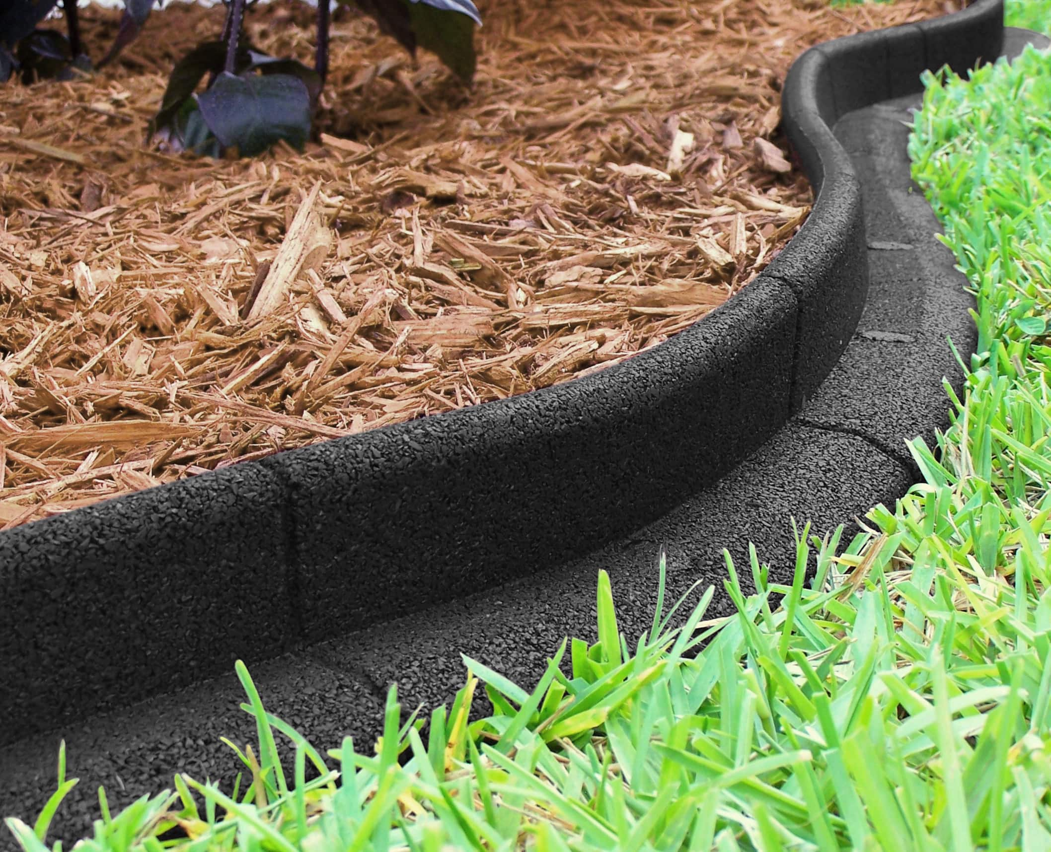 Black Rubber No Dig Landscape Edging - $5 4ft Section, Walmart Clearance YMMV B&M