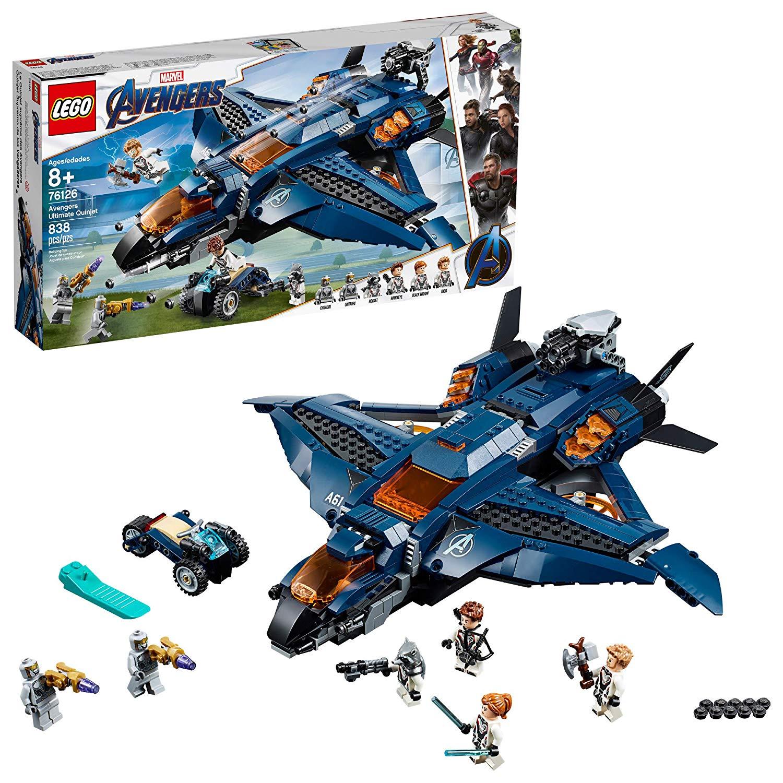 LEGO Marvel Avengers: Avengers Ultimate Quinjet 76126 Building Kit, New 2019 (838 Pieces) $64