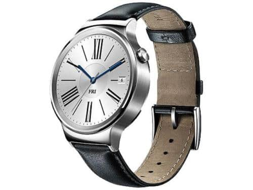 Huawei Smartwatch Stainless Steel Black Leather Band - Manufacturer Refurbished - NewEgg through EBay - $189.99