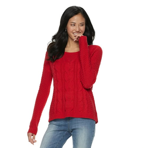 Kohl's CardHolders Juniors' SO® Sweaters on Clearance as low as $1.68