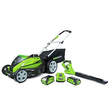 """GreenWorks G-MAX 40V 19"""" Lawn Mower and Blower Combo Lawn Kit $299"""