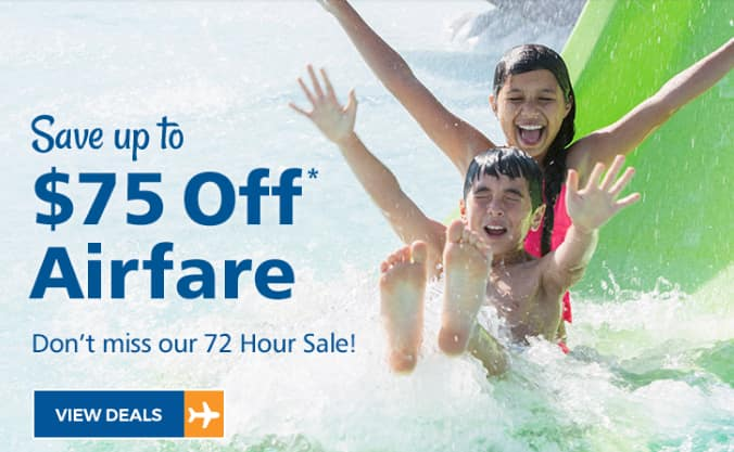 Allegiant Air 72 Hour Flight Sale with Promo Codes Up To $75 off air & hotel package - expires March 11