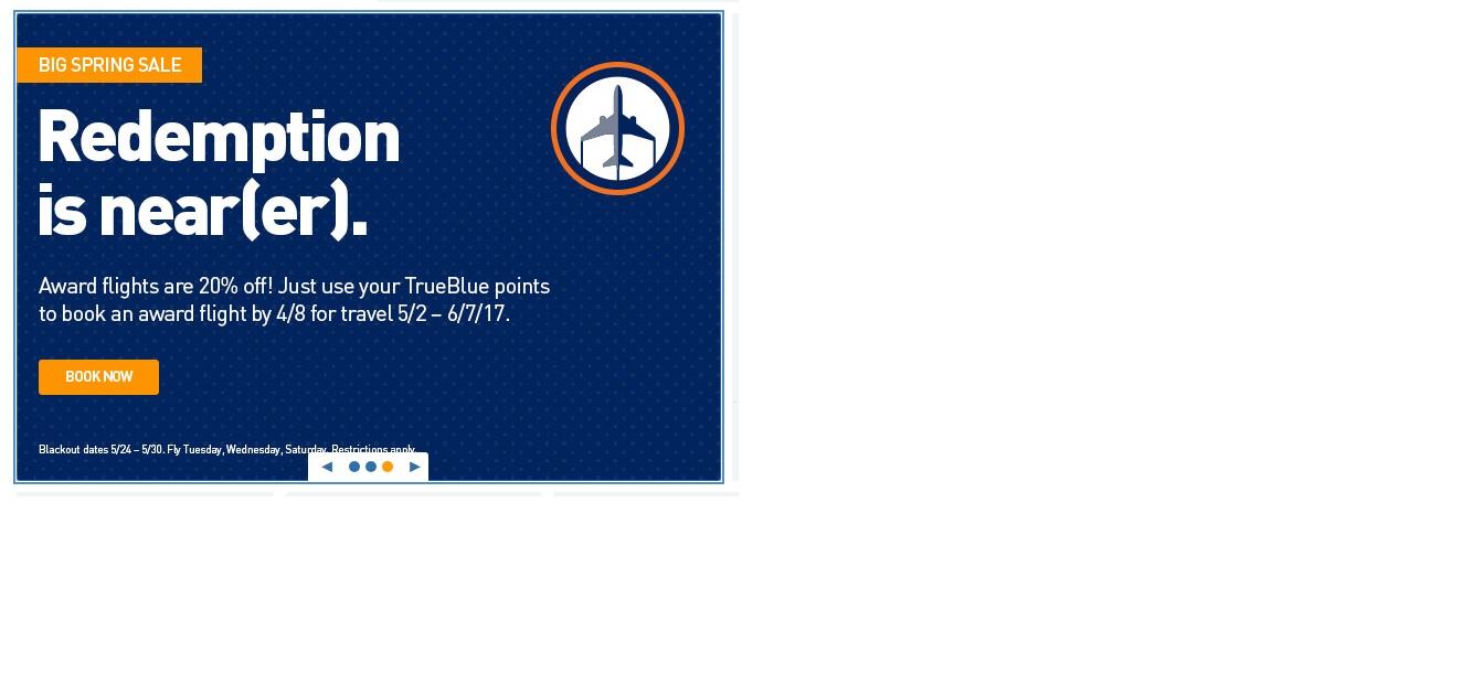 Jetblue - Big Spring Sale for TrueBlue Award Travel 20% Off - Book by April 8