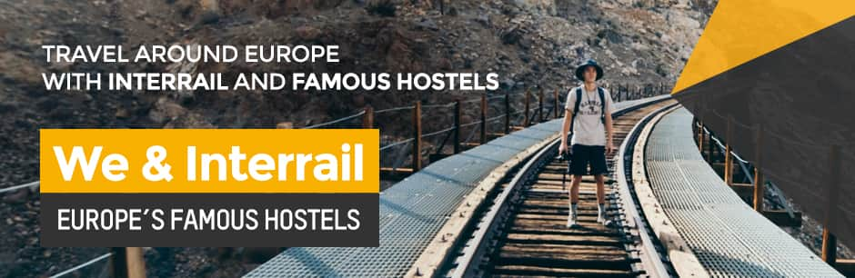 Europe's Famous Hostels - 10% Off on Advance Bookings for Interrail and Eurail Pass Holders