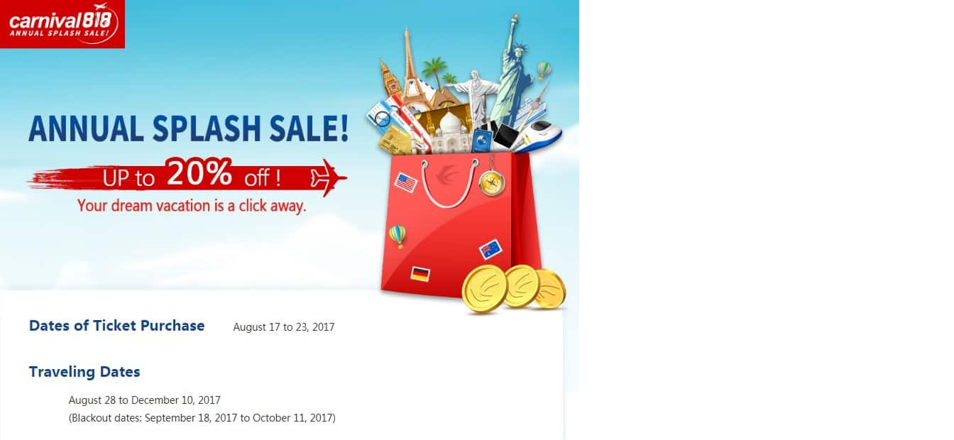 China Eastern Airlines Annual Splash Sale - Up To 20% off Flights with Promo Code