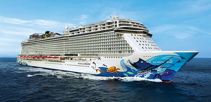 Norwegian Cruise Lines - Up to 5 Free Offers, Up to $500 Onboard Credit and $50 Deposit on All Ships