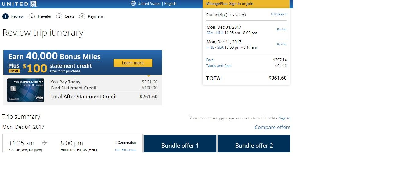 Seattle to Honolulu $362 RT Airfares