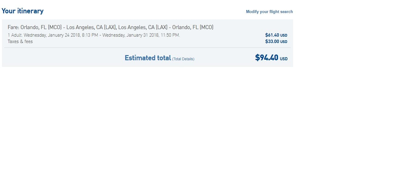 LAX to Orlando $94 RT Nonstop!  (limited travel dates in January) Work Vice Versa Too