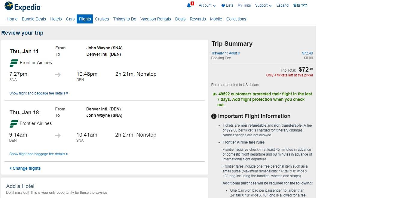 So Cal to Denver or Vice Versa $73-79 RT Nonstop (travel Dec-June 2018)