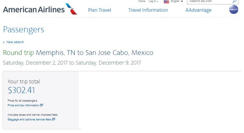 Memphis TN to Puerto Vallarta or Cabo San Lucas Mexico $298-$303 RT Airfare (limited Dec dates)