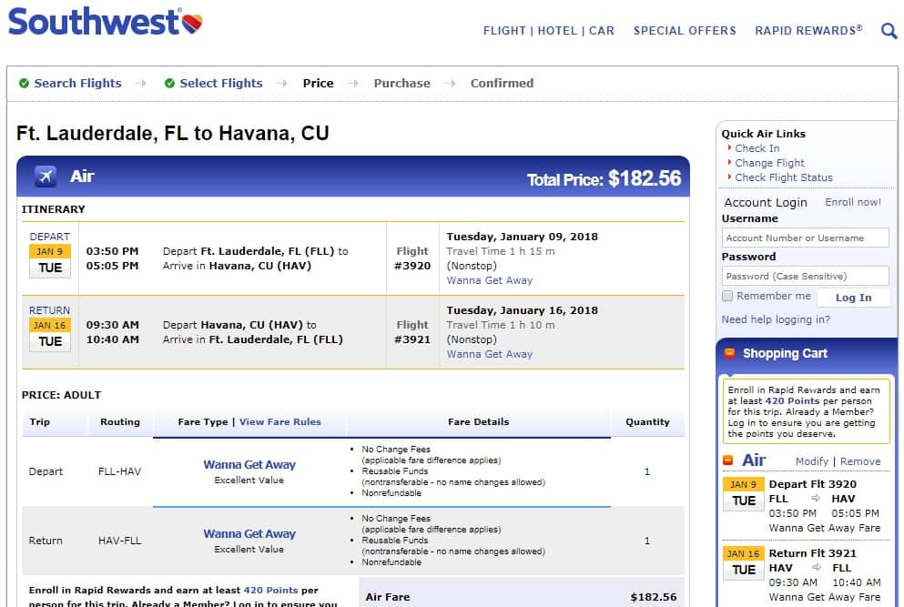 Ft Lauderdale to Havana Cuba $183 RT Nonstop on Southwest Airlines or Jetblue (travel Jan-Feb)