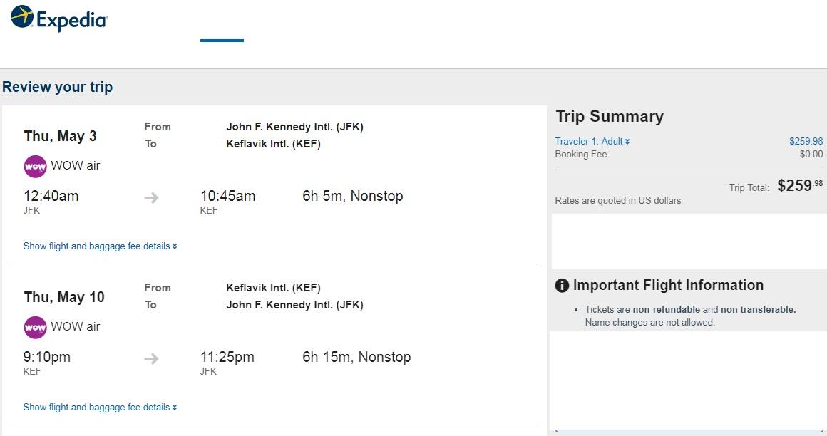 San Francisco or New York to Iceland $260 RT Nonstop Airfare (travel May 2018)