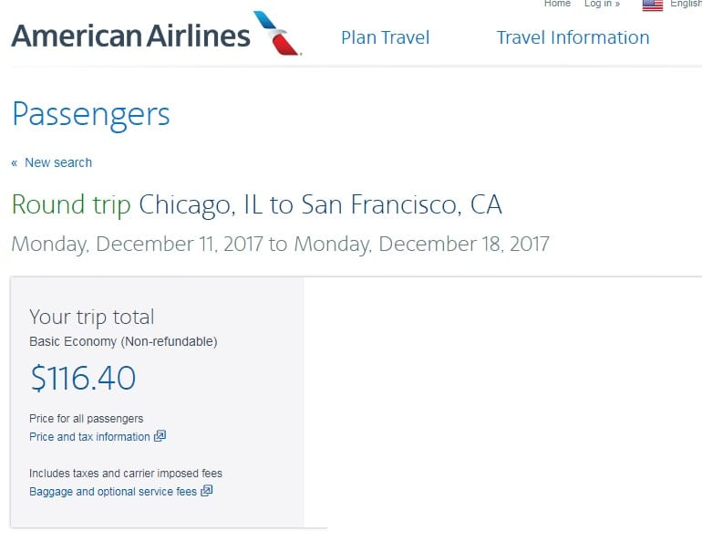 Chicago to San Francisco or Vice Versa $116 RT Nonstop on American Airlines (very limited travel Jan-Feb)