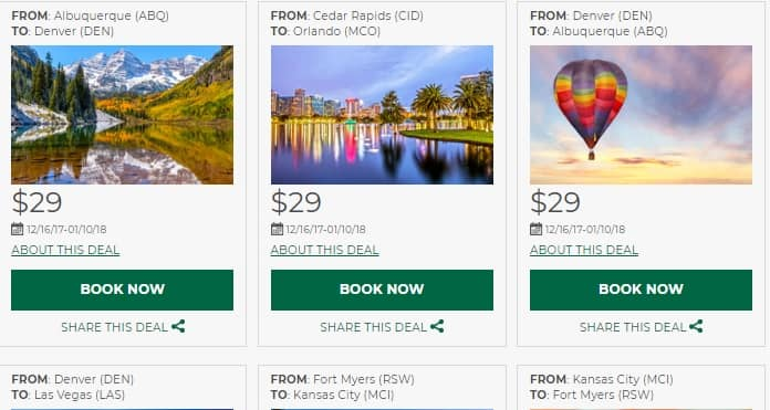 Frontier Airlines - Airfares as low as $29 OW - Book by Dec 18