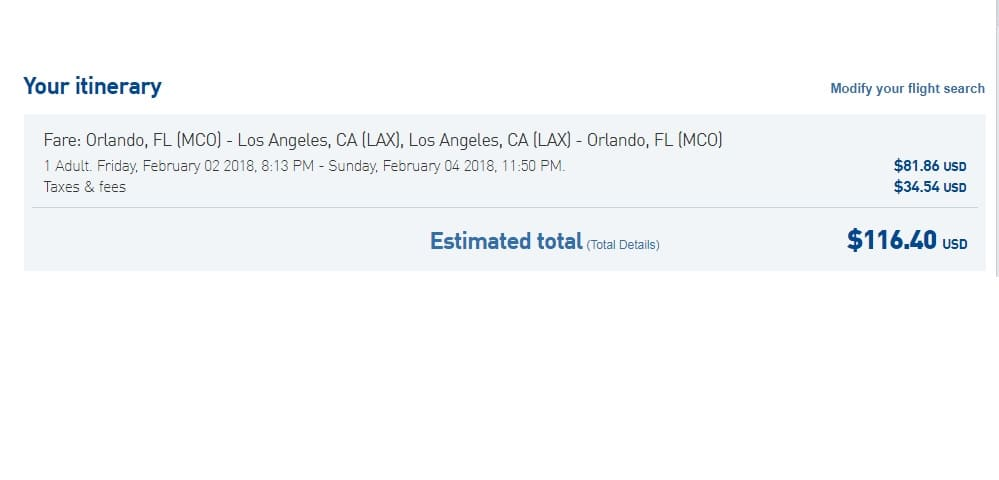 Orlando to Los Angeles or Vice Versa $58 OW or $116 RT on JetBlue (limited travel Jan-Feb)