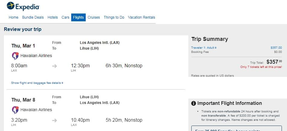 Price Drop and More Months Added!  Los Angeles to Kauai $357 RT Nonstop on Hawaiian or American Airlines