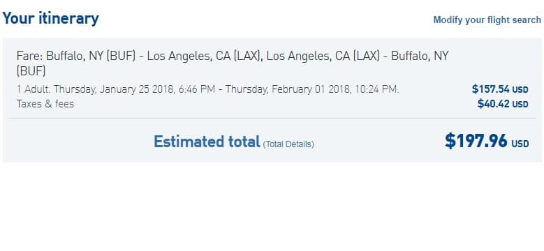 Buffalo NY to Los Angeles or Vice Versa $198 RT NONSTOP on JetBlue (travel Jan-Feb)