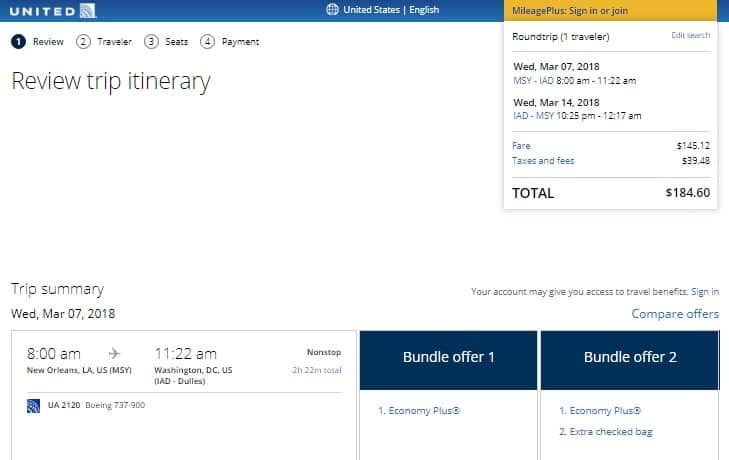 Washington DC to New Orleans or Vice Versa on United Airlines (travel Jan-March) $185