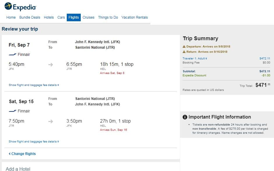 New York to Santorini Greece $471 RT on One World Airlines (travel Sept-Oct)