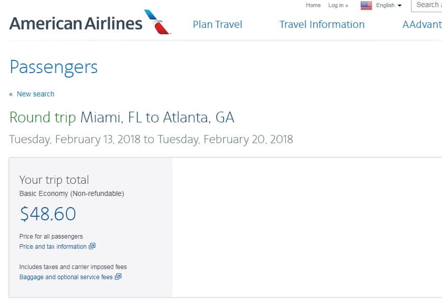 Atlanta to Miami or Vice Versa $49 (BE) or $89 (Reg) on American Airlines (limited travel Feb)