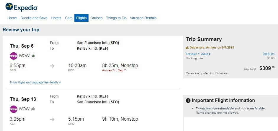 San Francisco to Iceland $310 RT Nonstop on WOW Air (limited travel Sept-Oct)