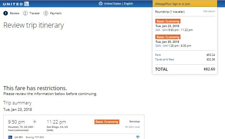 Houston to San Diego or Vice Versa $83 (BE) or $132 (regular) RT Nonstop (travel Jan-Feb)