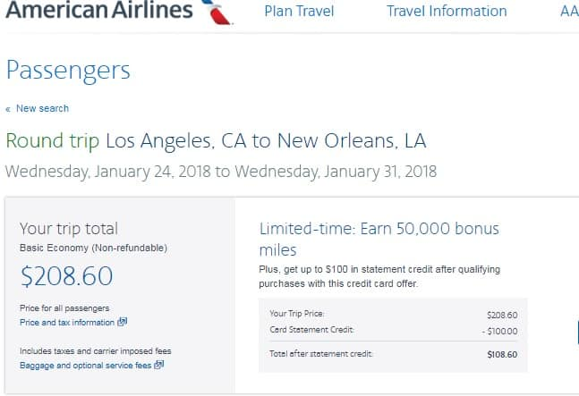 Los Angeles to New Orleans or Vice Versa $209 RT Nonstop on AA or Southwest Airlines (travel Jan-May 2018)