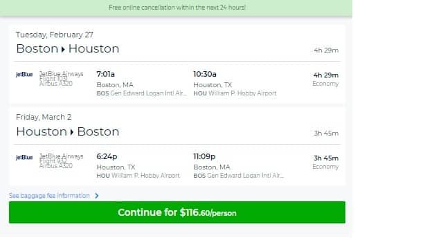 Houston to Boston or Vice Versa $117 RT Nonstop on JetBlue (Very Few Upcoming Dates)