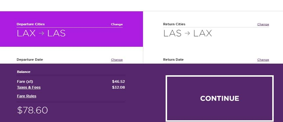 To and From Las Vegas - Los Angeles $78 RT Nonstop on Virgin America or Delta Airlines (travel Feb-Dec, incl SUMMER)