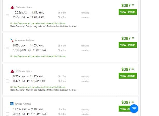 Los Angeles to Honolulu Hawaii or Vice Versa!  $397 RT Nonstop Airfares (travel April-May)